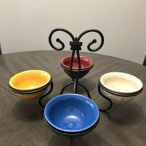Longaberger wrought iron dessert bowl stand